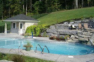 customized swimming pool with lawn
