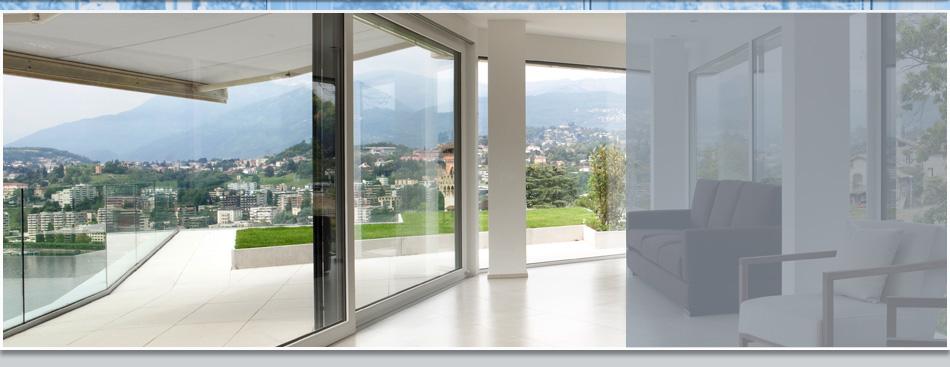 New glass door