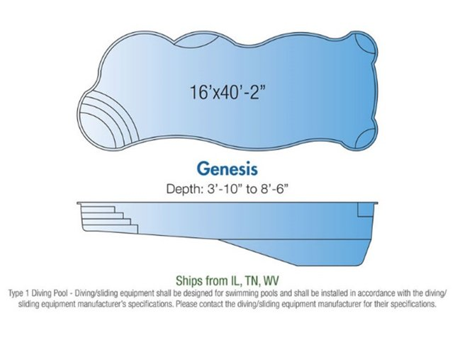 Genesis pool design layout