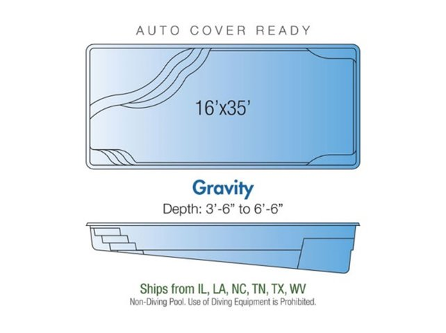 Gravity pool design layout