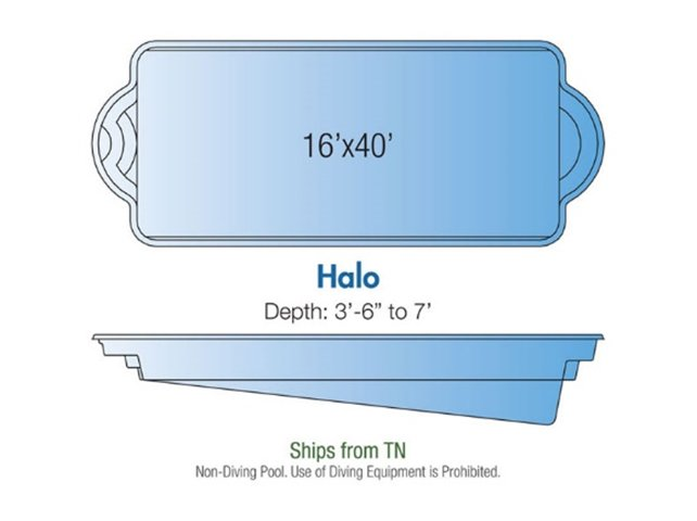 Halo pool design layout