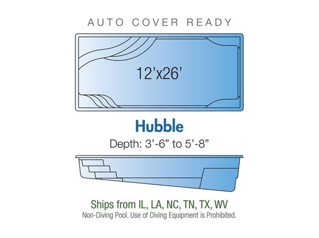 Hubble pool design layout