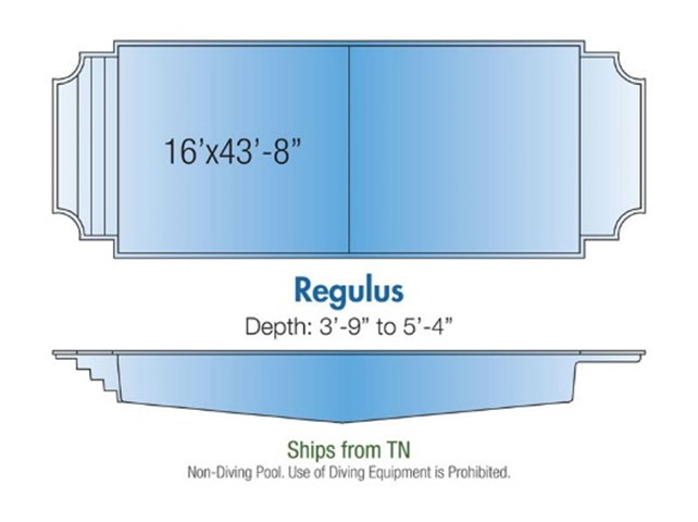 Regulus pool design layout