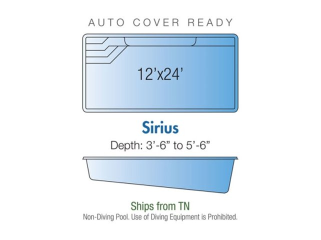 Sirius pool design layout