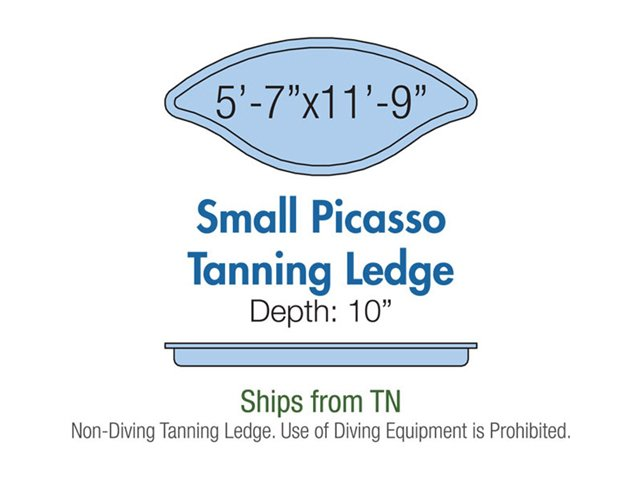 Small Picasso Tanning Ledge