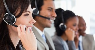 Agents taking calls from clients