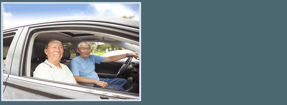 Two men in car