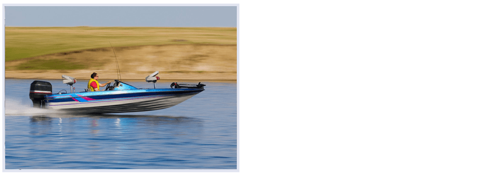Man in speedboat