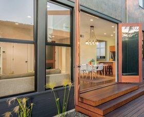 Glass doors and glass windows