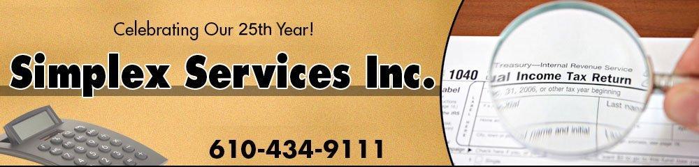 Tax Preparation Service - Allentown, PA - Simplex Services Inc.