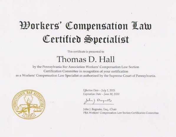 Workers Compensation Law Certificate