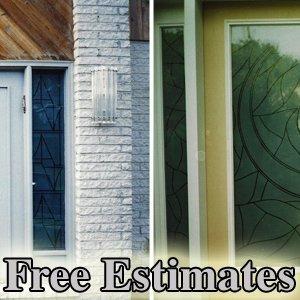 Etching - Philadelphia, PA  - G & R Custom Glass & Mirrors - doors - Free Estimates