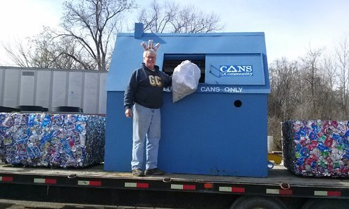 Cans recycling