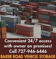 Secure Storage   New Port Richey, FL   Baker Road Vehicle Storage   Storage