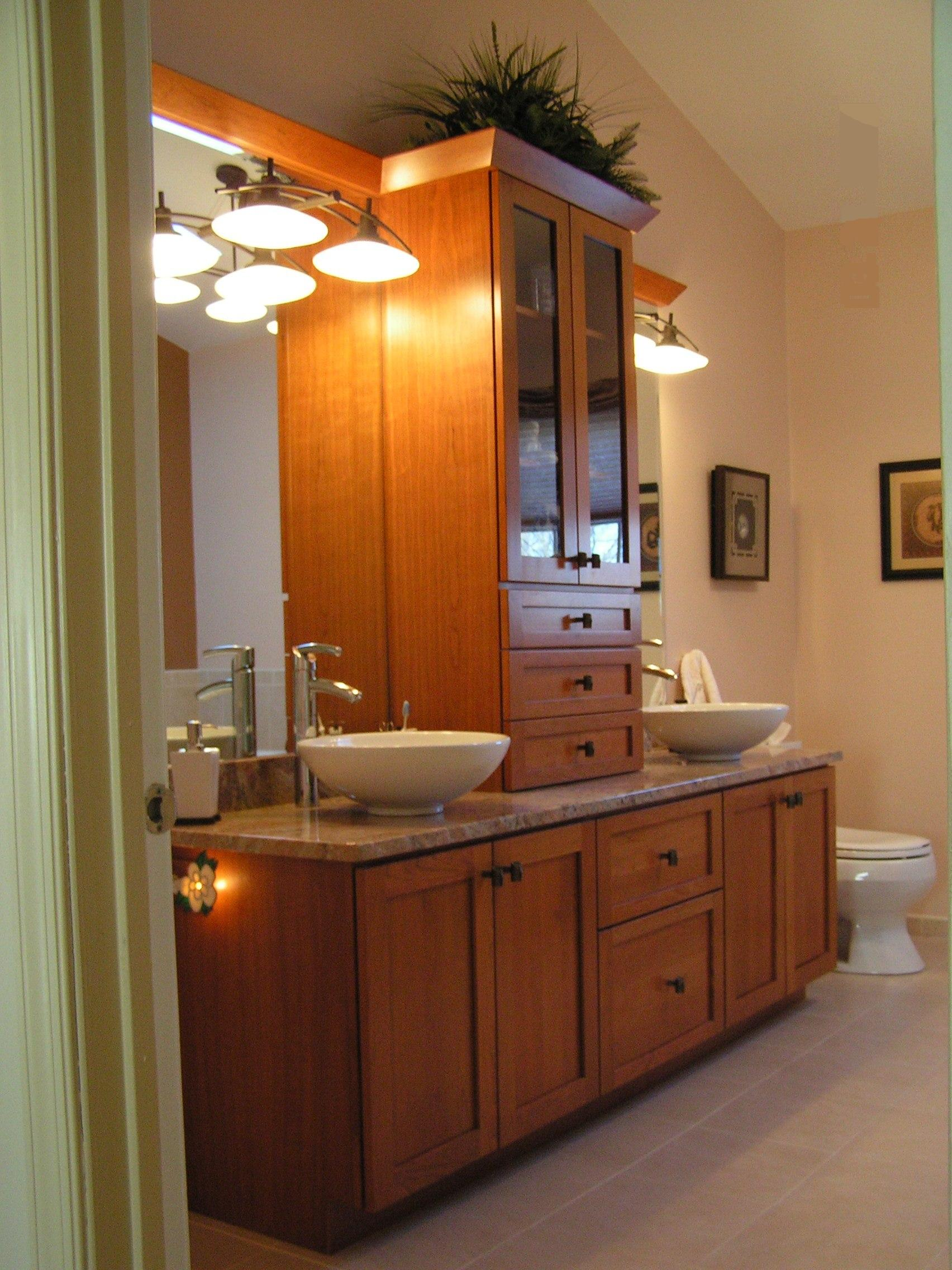 Bathroom wooden cabinet