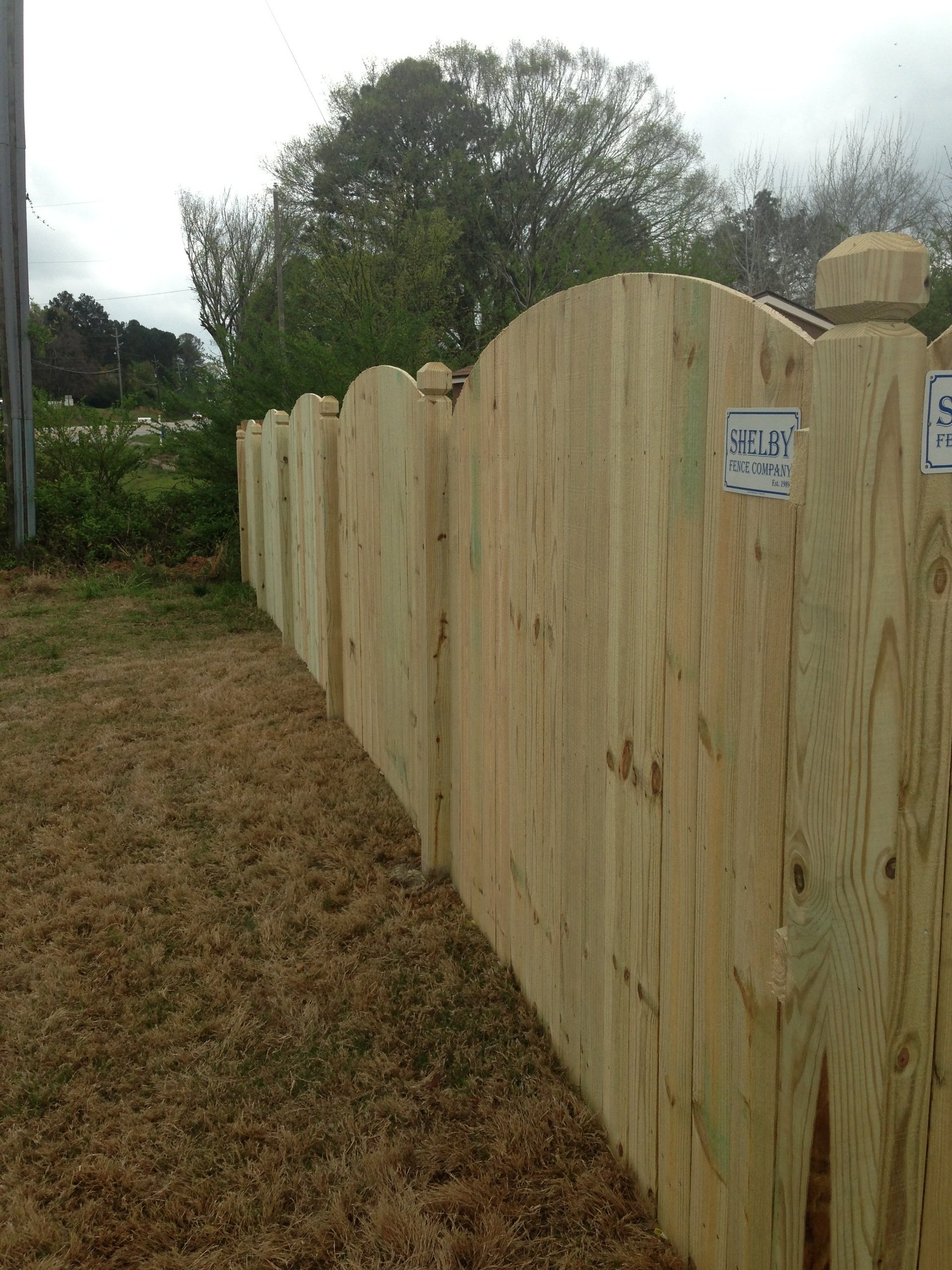 Fencing services wood fences alabaster al wooden fence baanklon Images