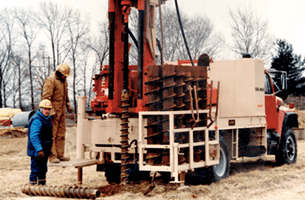 Well drilling service by the contractors