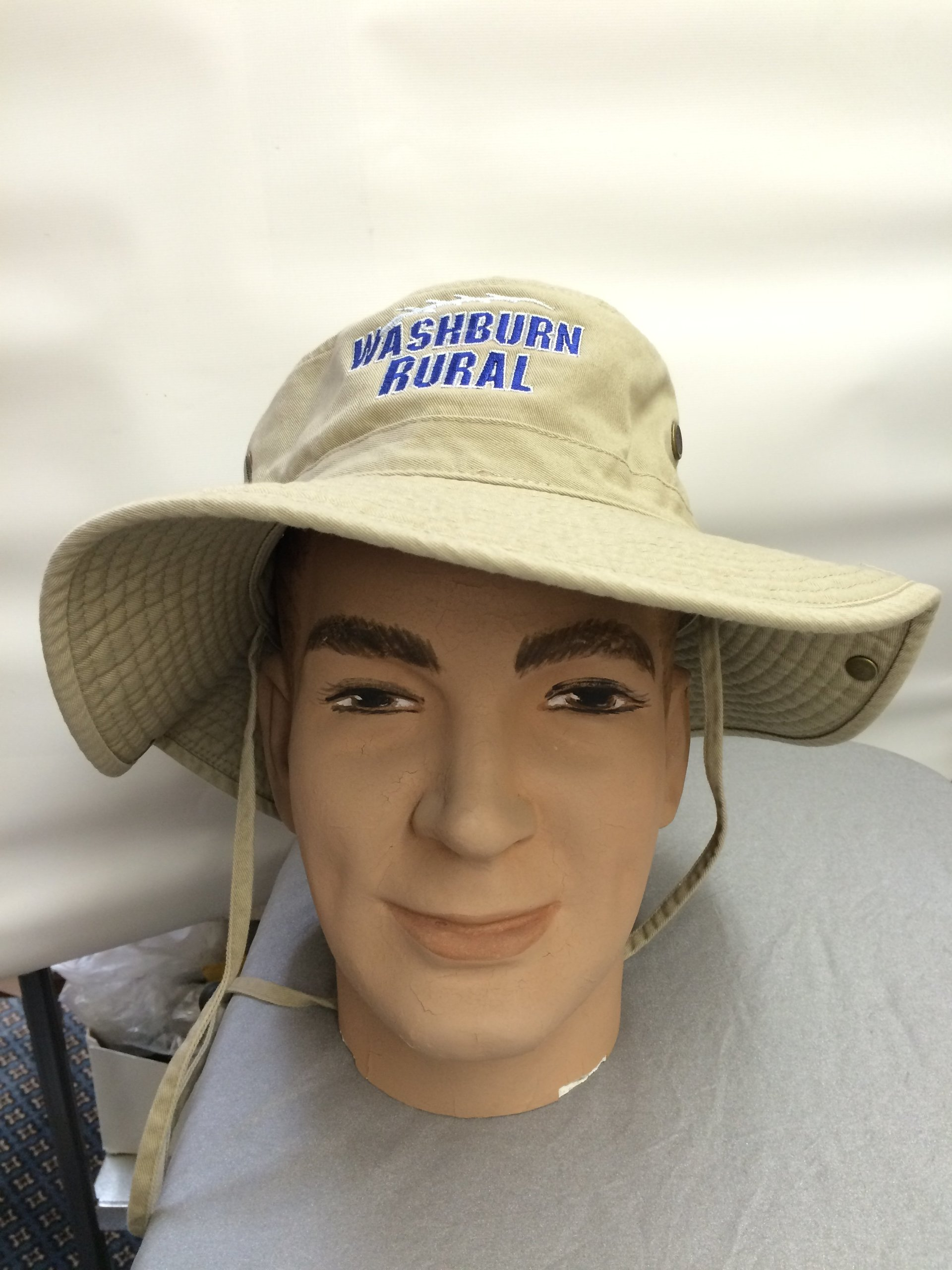 Mannequin head with a hat