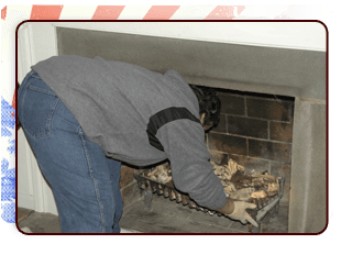 Man cleaning a chimney 2