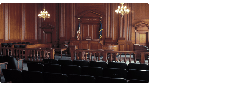 Wide space courtroom