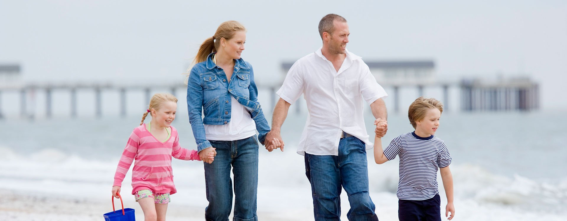 Happy Family in Beach