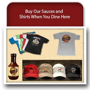 Barbeque Restaurant - Cullman, AL - Johnny's Bar-B-Q - apparels - Buy Our Sauces and Shirts When You Dine Here