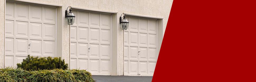 New white garage door