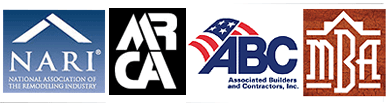 NARI – NationalAssociation of the Remodeling Industry (Milwaukee Chapter), MRCA –Midwest Roofers Contracting Association, ABC – Associated Builders andContractors, MBA – Metropolitan Builders Association