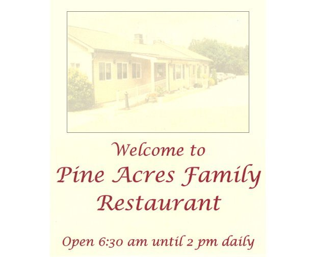 Breakfast, Brunch and Lunch - Chaplin, CT - Pine Acres Family Restaurant