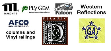 Masonite, Ply Gem, Falcon, General Aluminum, AFCO, Delaney locks, Western Reflections logos