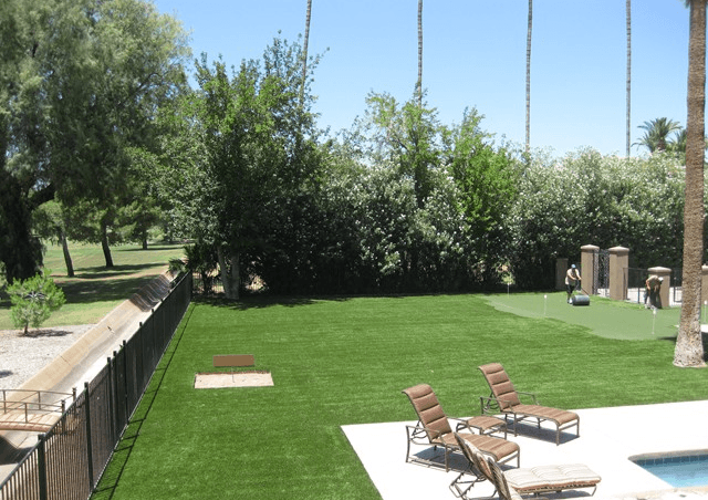Residential turf landscaping