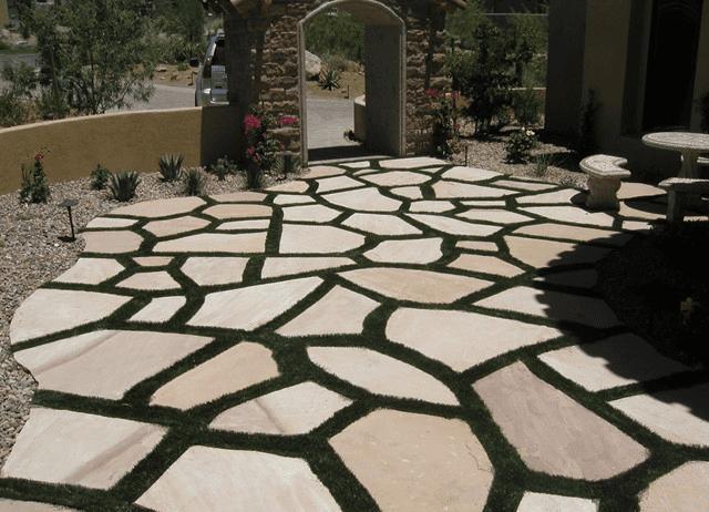 Residential turf installation