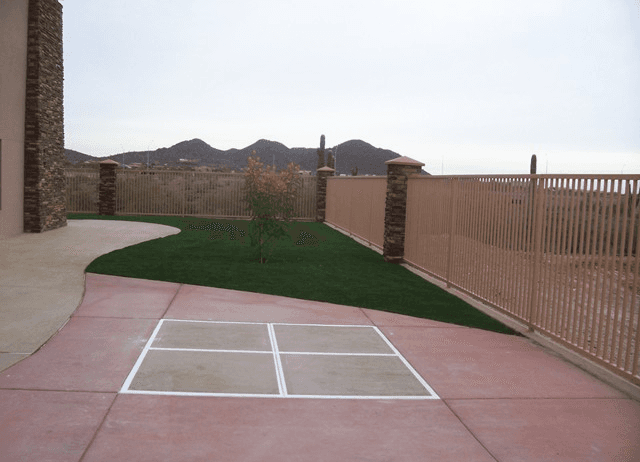 Residential Turf and Basketball Court