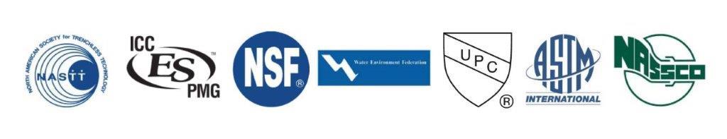 NASTT, ICC-ES-PMG, NSSF, UPC, ASTM, NASSCO