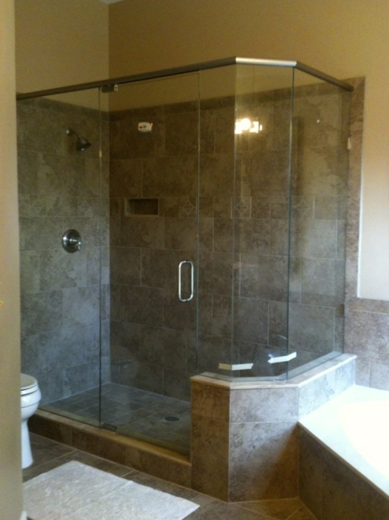 Turners Custom Showers | Showers Neo Angle Shower Doors ...