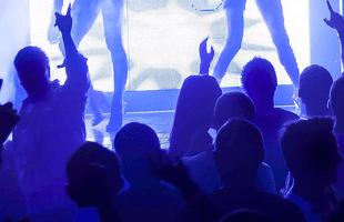 Dancing at nightclub