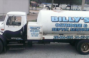 Billy's Septic Services vehicle