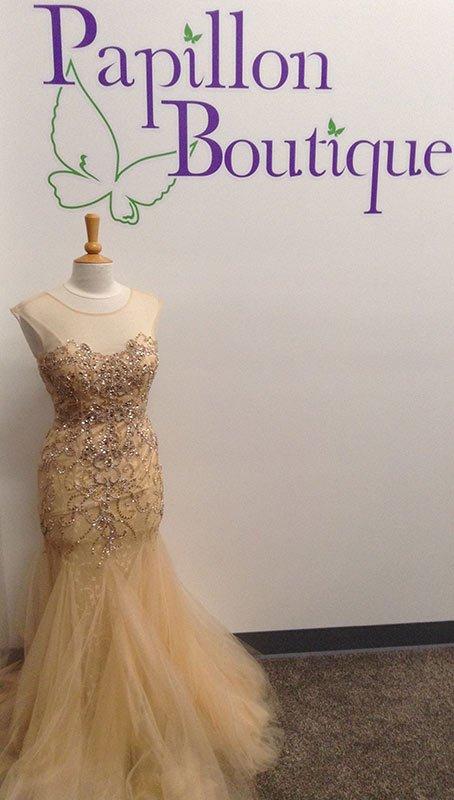 Cream sparkle gown