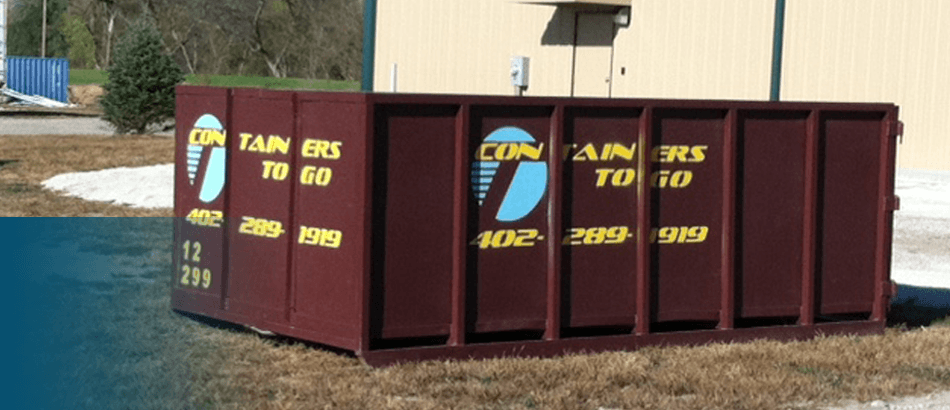 Cleanup containers | Omaha, NE | Containers To Go | 402-289-1919