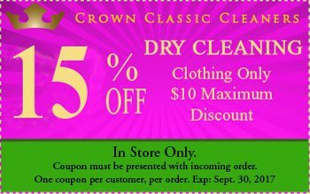 Dry Cleaning Delivery - Palm Harbor, FL - Crown Classic Cleaners