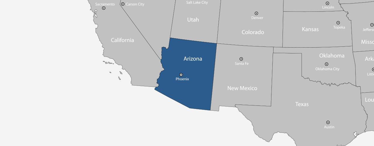 Arizona Awnings & Canvas LLC service area map