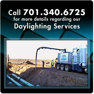 groundwork services - Minot, ND - Badger Daylighting of ND Inc - Call 701.340.6725 for more details regarding our Daylighting Services