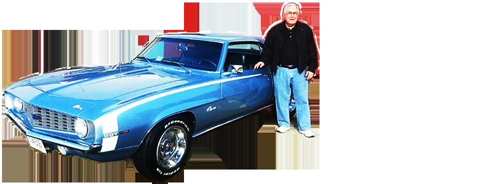 Man standing beside the car