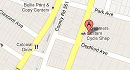 Screamers Custom Cycle Shop - 1014 N Evergreen Ave., Woodbury, NJ 08096