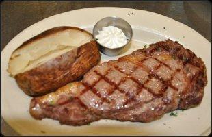 Fireside Steak Pub rib food