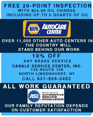 Auto Repair Service - North Lindenhurst, NY  - Canale Service Center, Inc.