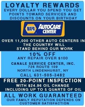 Auto Maintenance and Oil Changes - North Lindenhurst, NY  - Canale Service Center, Inc.