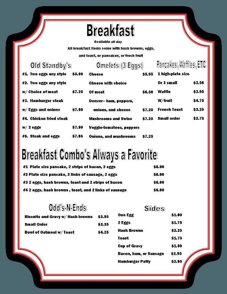 Breakfast - Meridian, ID - Ed's 50's Café