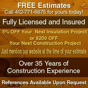 Fiberglass Insulation - Pittsburgh, PA - JD Gales Contracting Inc