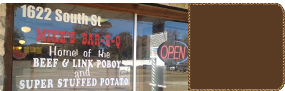 Mike's Bar-B-Q window information